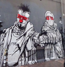 Graffity in Marseille, La Plaine - Aktivists