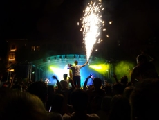 Feuerwerk während Konzert in Katalonien