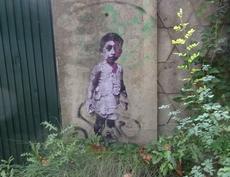 Graffity mit einem Kind