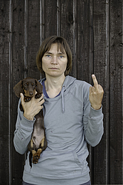 Elina Brotherus: My Dog Is Cuter Than Your Ugly Baby, 2013 © Elina Brotherus