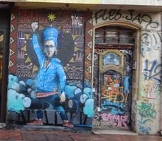 Graffity of a strugglein women
