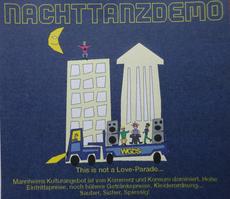 Flyer der Nachttanzdemo 2000 in Mannheim